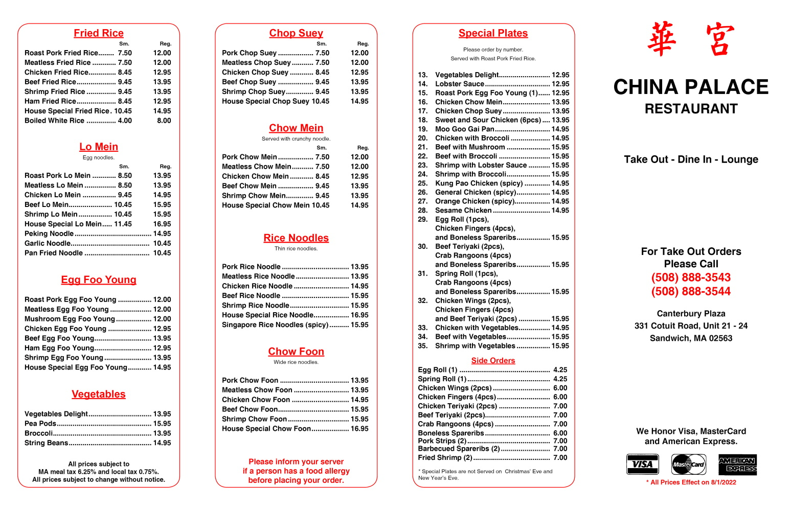 Take Out Menu 01